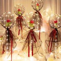 LED Işık Balon Sopa Doğum Günü Partisi Süslemeleri Çocuklar Temizle Balonlar Globos Standı Tutucu Düğün Dekor Balon Malzemeleri