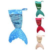 Christams décorations sirène stocker cadeau enveloppements sacs bling bead flip chaussettes de queue xmas décor à la maison wll673