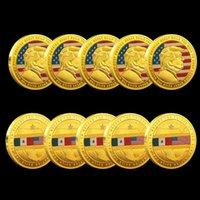 5pcs Arts e Artigianato Donald J Trump del presidente degli Stati Uniti Tenere American Great Build The Wall To USA Great Gold Plated Souvenir Coin