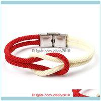 Charm Bracelets Jewelrymens Stainless Steel Bracelet Creative Double Layer Milan Thread Braslet Camping Cool Biker Jewelry Viking Brazalete