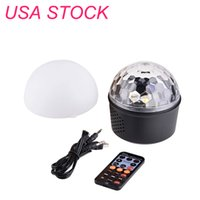 États-Unis Stock Bluetooth + Partonnier Lumière LED Effets 9W Magic Ball Projecteur Stage Lights Strobobe Club Éclairage Mini avec une connexion à distance pour la décoration