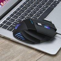 3200dpi Gaming Mouse Высокие Оптические Профессиональные Mices С 7 Яркими Цветами Светодиодная подсветка и эргономика Дизайн для Gamer