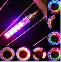 2pcs 5 LED 자전거 자전거 휠 타이어 밸브 모자 스포크 네온 라이트 램프 액세서리 도매 드롭 배송 247 W2