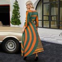 Повседневные платья Changpleat 2021autumn осени женские плиссированные платья платье Miyak Fold Plus Размер свободных трех четвертей рукава круглые шеи вечеринка