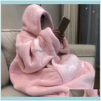 Decken Textilien Home GARDENBLANKETS Winter Dicke Comfy TV-Decke Sweatshirt Feste Warme mit Kapuze Erwachsene und Kinder Fleece gewichtet für B