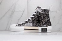 Ребенок 19ss b23 b24 ограниченные обувь издание влюбленные печатные кроссовки универсальные высокие верхние холст с упаковочной коробкой размером 36-45