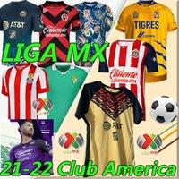 2021 2022 Liga MX Club América Jerseys de fútbol 21/22 UNAM León Uanl Tigres Chivas Guadalajara 115 aniversario Camisetas de fútbol Cruz Azul Mazatlan Monterrey Jersey
