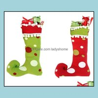 Decorations Festive Party Supplies Home & Garden Cute Santa Claus Elf Shoe Boots Suspenders Pant Candy Gift Bag Small Sack Stocking Filler B
