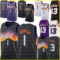 Devin 1 Booker Jersey Chris 3 Paul Basketbol Formaları Steve 13 Nash Retro Mesh Formalar S-XXL Mor Beyaz Erkekler Çocuklar