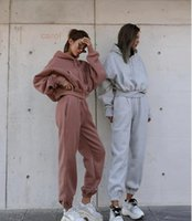 Women's Two Piece Pants Set with hooded sweatshirt, 2-piece women's clothing for racing, autumn and winter 85PX