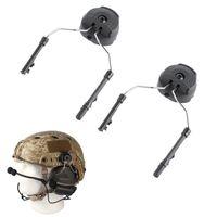 Tactical Helmets 2 Pcs FAST Helmet Fma Rails Adapter ARC Rail Attachment Kit For Peltor Comtac Headset