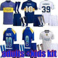 أطقم الكبار Boca Juniors Soccer Jersey 2021 2022 Carlitos Maradona Tevez de Rossi 21 22 Sports Football Shirt Men + Kids Kit مجموعات موحدة الصفحة الرئيسية الثالثة