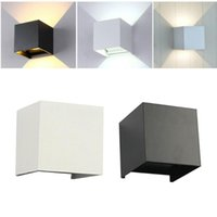 Wall Lamps LED Lamp IP65 Waterproof Indoor & Outdoor Aluminum Light Surface Mounted Cube Garden Porch NR-155
