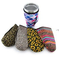 30oz Coffee Cups Sleeves Pouch Neoprene Insulated Bottle With Carrying Handle Cover Bags Beer Beverages Mug Cup Sleeve Drinkware HHF10309
