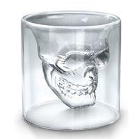 25 ml 70ml 150ml 250ml 와인 컵 두개골 유리 샷 유리 맥주 위스키 할로윈 장식 크리 에이 티브 투명한 음료 음주 안경