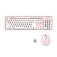 Tamanho completo para PC Teclado de laptobo Mouse Combo Quiet Portátil Elegante Escritório 2.4GHz Wireless Óptica Ergonômica Ergonômica