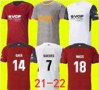 21 22 Valencia CF Futebol Jerseys C.Soler 2021 2022 Camiseta Cutrone Gameiro Oliva Gaya Manu Vallejo Camisa de Futebol M.gomez G.Paulista Mens Jersey Kit Kit Tops Tailandês