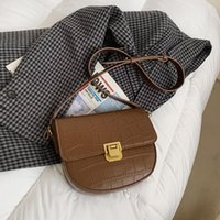 Mini 2021 Stone Lock Ladies Shoulder Bag Fashion Grain SWDF Mobile Purse Phone Casual Messenger Small Rifhl