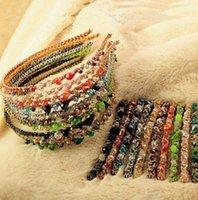 أزياء البوهيمي نمط المرأة كريستال متعدد الألوان الذهب الأسلاك رئيس هوب دبوس الشعر عقال الشعر PS0677