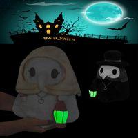 DHL Halloween Imp Ghost Plague Doctor Beak pelúcia luminosa brinquedos de pelúcia feriado presentes brinquedo festa de baile adereços surpresa atacado