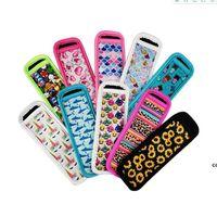 Bolsas de embalagem Portátil Natural de borracha de borracha capa favor de moda impressão neoprene protetora conjunto anticongelante mão reutilizável DHF7415