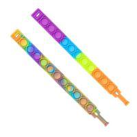 2021 DECOMPRESSION Silicone Fidget giocattolo Braccialetto Aumento Focus Soft Squeeze Press Divertente Bubble Stress Stress Stress Reliever Tie Dye Colors Braccialetto G54ED5V