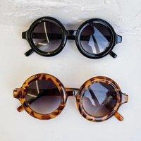 2021BRAND Дизайнер Детские Круглые Солнцезащитные Очки Девочки Девочки Милый Baby UV400 Зеркало Прекрасный Круг Металлическая Нога Солнцезащитные Очки