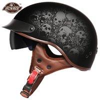 Мотоциклетные шлемы летний шлем мужчины женщины мото открытое лицо CASCO ретро винтажный скутер Biker Motorbike Racing Riding