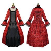 Gelegenheitskleider große plus größe frauen kleid mittelalterlich retro wunderschöne lang mit großen schwing blütenblatthülsen spitze nähen robe