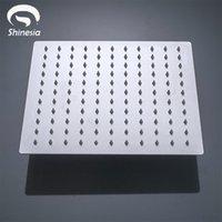 Shinesia escovado níquel chuveiro cabeça sem chuveiro braço 68101216 aço inoxidável redondo quadrado chuva acessórios do banheiro