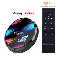 Android TV Box H96 MAX X3 4GB 128GB 64GB 32GB AMLOGIC S905X3 دعم 5G Wifi 1080P 4K 60FPS Google Player YouTube 8K H96Max