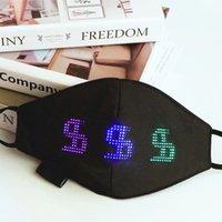 Bluetooth Programável LED Display Light Up Face Máscaras para Homens Mulheres Rave Mask Musica Party Christmas Halloween Luminous Dign Módulo