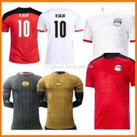 Egipto Soccer Jersey 2021-22 M. Salah Jerseys 2021 2022 Fans Player Inicio Rojo Amarillo Blanco Amarillo Black 20 21 22 Kahraba A. Hegazi Ramadán M.Elneny Kits de uniforme Camisas Footbals