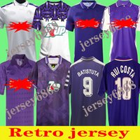 1998 99 95 95 96 Florências Retro Football Jerseys Classic Batistuta 9 Rui Costa Vintage Maillot de Tailandês Qualidade 1999/2000 92 93 Futebol Tailândia