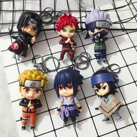 2019 Naruto Keychain Sasuke / Itachi / Kakashi Acrilico Catena chiave a ciondolo Anime Accessori Anello con chiave dei cartoni animati Y0306
