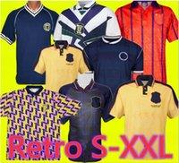 1982 اسكتلندا ريترو لكرة القدم جيرسي 1986 Dalglish Gallacher McCoist 1998 94 96 قمصان كرة القدم لامبرت S-XXL