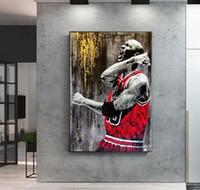 Gran jugador de baloncesto Idol Cartel de la sala de estar decoración de lienzo pintura de pared Arte de la pared Deocor (sin marco)
