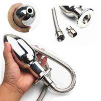 8 tamanhos Enemator Anal Plug Intestinal / Anus / Vaginal Cleaner Tap Dilator Dilator Dispositivos de lavagem com chuveiro Produtos de sexo HH8-1-86