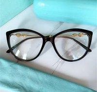 EXQUSITE حجر الراين الديكور cateye النساء نظارات إطار 56-17-145 عالية الجودة لوح + المعادن لصحة النظارات fulled تصميم حالة