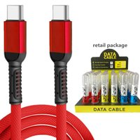TypeC Cables fast charging For Samsung S20 PD Quick Charge cords braided cable