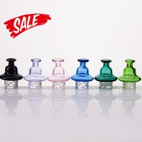 Cyclone Riptide Carb Cap Spinning Glass Cap For 25mm flat top banger Dome with air hole Terp Pearl Quartz Banger Nail