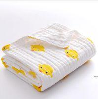 طفل حمام منشفة الطباعة الكرتون الشاش امتصاص الماء الناعم الأطفال مناشف لحاف الرضع القطن بطانية الحمام المناشف الجلباب seadhc6685