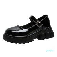 Dress Shoes Low Heel Women Models Mary Jane Women's Japanese High Heels Platform Harajuku Vintage Lolita 7712