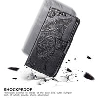 Embossed Butterfly Embossed Leather Cases Shockproof Wallet Flip Card Casefor Apple iPhone 13 12 Mini 11 Pro Max X XS XR 7 8 Plus Back Cover