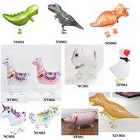 Alta Qualidade Dinossaure Balão Hélio Andar Pet Animal de Animais Folha Balões Com Tamanho Grande Para Crianças Festa de Aniversário Fontes Presente Balão Brinquedos
