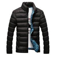 FTlzz Otoño Chaquetas de invierno Parka Hombres Calor Outwear Casual Slim Mens Abrigos Cortes Cortavientos Quiltados Men M-6XL 211009
