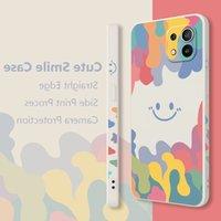 For Xiaomi Mi 11 Lit Case Nice Rainbow Smile Pattern Soft Shell Straight Cover For Xiaomi Mi 11 Mi11 Lite per Ultra Phone Case