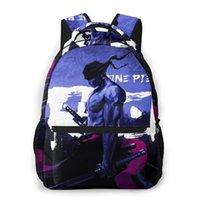 حقيبة الظهر Roronoa Zoro One Piece Art for Girls Boys Travel Rucksackackpacks حقيبة مدرسية في سن المراهقة
