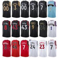 الشاشة طباعة كرة السلة OG Anunoby Jersey 3 Fred Vanvleet 23 Pascal Siakam 43 Aron Baynes 46 Terence Davis 0 McGrady City Edition