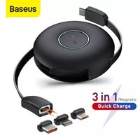 Baseus Magnetic 3 in 1 USB C Cable For IPhone 12 11 USB Type C Fast Charging Data Cable for Samsung Xiaomi Retractable Cord